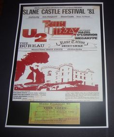 Thin Lizzy concert poster+ticket Slane Castle Co Meath Ireland 1981 Reprodution | eBay