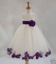 Girls Purple Bridesmaid Dresses | eBay