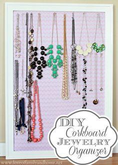45 Easy DIY Cork Board Projects for Creative Organization Memo Boards, Cork Boards, Diy Organisation, Jewelry Organization, Jewelry Storage, Homemade Bulletin Boards, Diy Cork Board, Ideas Prácticas, Craft Ideas