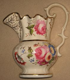 Early 19th Century English Floral Decorated Porcelain Presentation 'John & Carolie Chidley' Jug | eBay