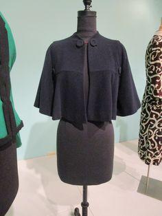 Navy blue wool cape (Pauline Trigere), American, c. 1941