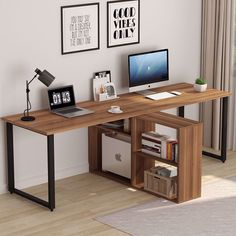 Better Homes and Gardens Home Office Furniture Decor 8-Cube Organizer Storage Bookcase and 4-Outlet Surge Protector with 2-USB Ports Bundle Natural