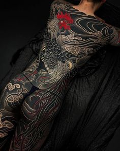 The 30 best back tattoos 2019 - tattoo spirit Mermaid Sleeve Tattoos, Unique Half Sleeve Tattoos, Cool Back Tattoos, Dragon Sleeve Tattoos, Leg Sleeve Tattoo, Best Sleeve Tattoos, Tattoo Girls, Girl Tattoos, Tattoos For Women