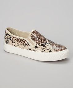 Another great find on #zulily! Natural Snake Bammy Slip-On Sneaker by Bucco #zulilyfinds