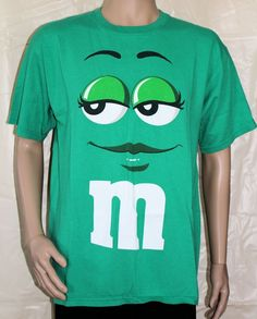 Green M&M Large T-Shirt  #MMs #GraphicTee