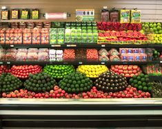 Gorgeous and yummy produce displays - displaying by colour