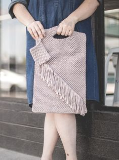 Fringe Tote Bag Crochet pattern by Natalya1905
