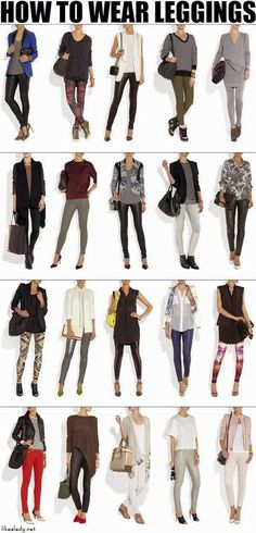 Here is a nice info-graph that showcases the right legging to be worn with different footwear. It also gives a representation of what kind of top – printed / solid / blazer should be worn in combination. GracieGene's has the right look for you. Go ahead and re-post & share GracieGene's with a friend.