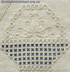Hardanger basket from the Guild's banner