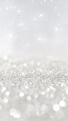 White glitter wallpaper