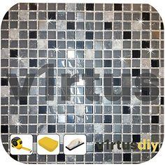V1RTUS argento olografico glitter Grout tile additivo 100 g per ambienti umidi, bagno, cucina finitura brillante - facile da usare - Aggiungere/mix con resina epossidica a base di cemento o malta - resistente al calore - colore Fast - antiruggine: Amazon.it: Fai da te