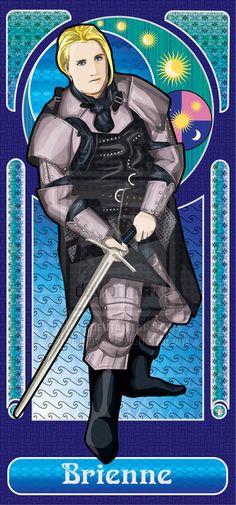 Brienne of Tarth by ~tfilipova on deviantART Game Of Thrones Westeros, Game Of Thrones Art, Brienne Of Tarth, Game Of Thones, Valar Morghulis, Film Music Books, Winter Is Coming, Fantasy Art, Art Nouveau