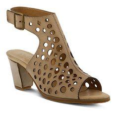 """Dova"" L'Artiste Leather Sandal Bootie"