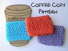 Crochet coffee cup sleeve, free pattern. Crochet coffee cup cozy.
