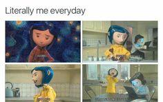That's a mood Coraline Theory, Coraline Art, Coraline Jones, Coraline Movie, Tim Burton Characters, Tim Burton Films, Coraline Aesthetic, Funny Cute, Hilarious