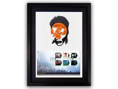 Limited Edition of 150.  David Bowie Vinyl Art mounted and framed with Bowie First Day Cover