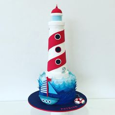 Lighthouse: Christening cake, Cake Salon, facebook