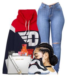 """❤️"" by kennisha84 ❤ liked on Polyvore featuring Victoria's Secret, NYX, MICHAEL Michael Kors and NIKE"