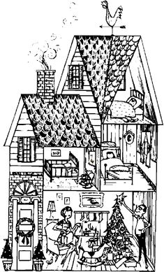 Houses to Color and Print for adults | ... girls and kids > house coloring pages > house picture coloring pages 3