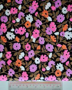 vintage fabric neon floral