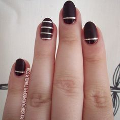 Maybe purple instead of black. Also, i need to get my hands on some of this magical nail tape.