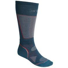 SmartWool PhD Racer Ski Socks - Midweight, Merino Wool, Over the Calf (For Men and Women) in Deep Sea