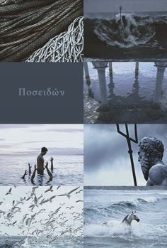 """Poseidon """"I am nothing definitive a collection of half-strung truths and swallowed lies I am in between """" Greek Mythology Gods, Greek Gods And Goddesses, Fantasy World, Dark Fantasy, Daughter Of Poseidon, Roman Gods, Percy Jackson Art, Ange Demon, Heroes Of Olympus"""