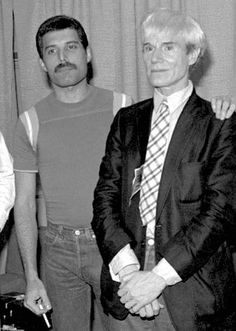 Freddie Mercury and Andy Warhol
