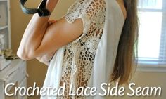 Crocheted Lace Side Seam Shirt