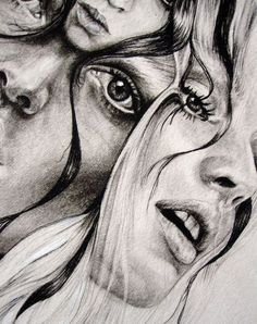 (Abbey Watkins) overlaying, multiple eyes/features, scale - Another! Ap Studio Art, Art Sketches, Art Drawings, Abstract Pencil Drawings, Distortion Art, A Level Art Sketchbook, Art Alevel, Identity Art, Ap Art