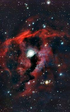 Detail of the Seagull Nebula