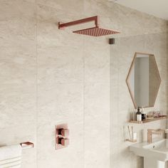 Nautical Bathrooms, Gold Bathroom, Bathroom Fixtures, Master Bathroom, Gold Interior, Bathroom Interior Design, Bathroom Layout, Bathroom Ideas, Gold Shower