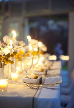 Candle lit dinners