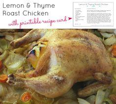 LYH Blog: Lemon & Thyme Roast Chicken Roast Chicken, Lemon, Turkey, Posts, Meat, Blog, Recipes, Messages, Turkey Country