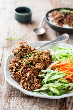 Vietnamese Caramelised Pork Bowls - garlic, ginger, chili, fish sauce and sugar…
