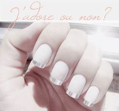 Metalic french nails