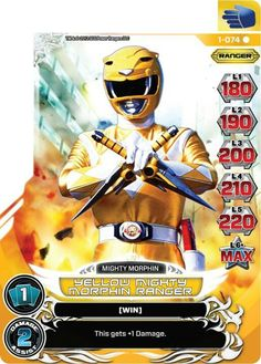 Yellow Mighty Morphin Power Ranger trading card