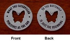 """Great quote - not sure about """"memorial tokens"""" part as suggested, but this has to have a neat place, and love the sign of resurrection."""