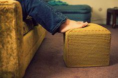 milk crate footstool