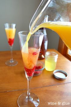 Made with raspberries and orange simple syrup, this mimosa is sinfully ...