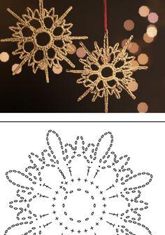 Crochet Skull Patterns, Crochet Snowflake Pattern, Crochet Doily Diagram, Crochet Lace Edging, Crochet Stars, Christmas Crochet Patterns, Holiday Crochet, Crochet Snowflakes, Christmas Snowflakes