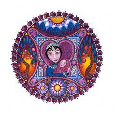 The Empress Tarot Mandala Art Print Healing Art meditation yoga tarot card  print op Etsy 35cb6a20bba6