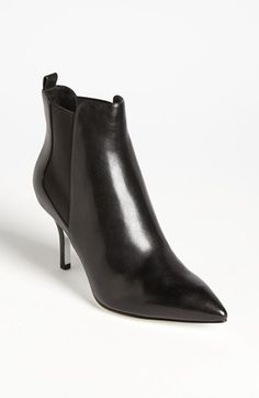 Michael Kors bootie: Own a similar one and wear it ALL the time. Perfect shape with skirts or jeans.