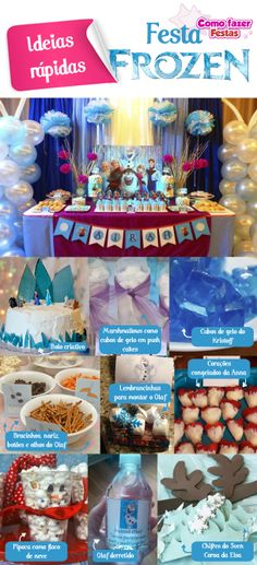 Ideias rápidas para Festa Frozen