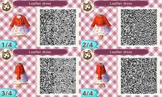 Animal crossing new leaf red jacket and dress qr code