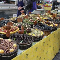 Aix en Provence, France Olive stand at the town market