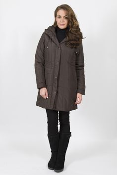 STEILMANN 3/4 PUFFA COAT Winter Collection, Raincoat, Fall Winter, Fashion Dresses, Winter Jackets, Beautiful, Rain Jacket, Fashion Show Dresses, Winter Coats