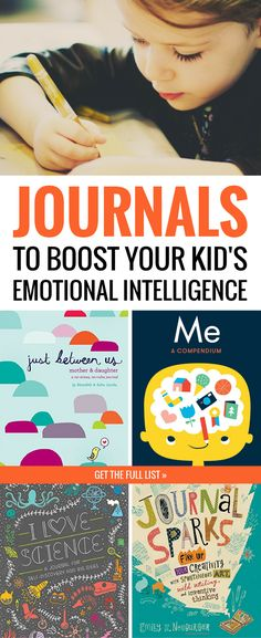 These are the BEST journals for kids with inspiring prompts and creative ideas to get them excited about journaling! Plus, these diaries and journals help kids process and understand their emotions, which is great for boosting their emotional intelligence. All these kids' journals make great gifts for kids, too! #kidsbooks #journaling #kidsjournal