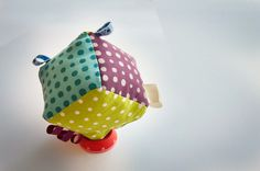 Fabric Baby Cube - Dot Mania from ABCs - Adorable Baby Cubes by DaWanda.com