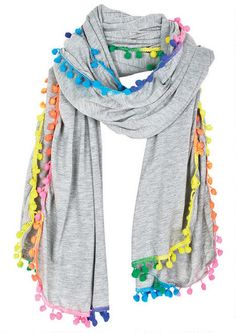 79d68b4b006 Solid Rainbow Pom-Pom Scarf - Accessories - Sale - dELiA s